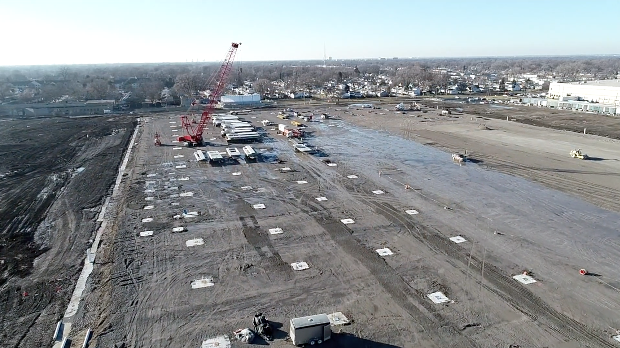 An arial view of the Tri-County Commerce Center that Site Development, Inc. worked on