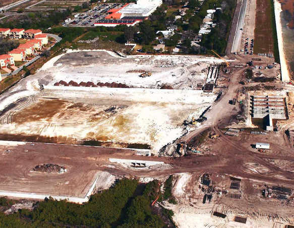 An arial view of the Sanctuary Cove job site.