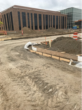 Work is underway at the Site Development, Inc. project at the St. Joseph Cancer Center.