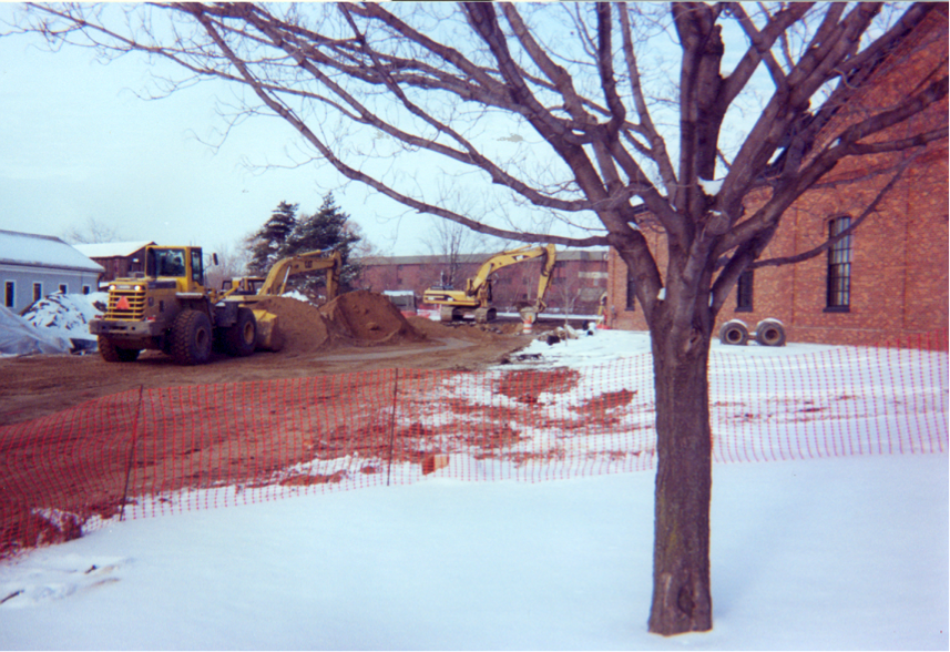 The job site for Site Development, Inc's project, the Greenfield Village Infrastructure Restoration project.