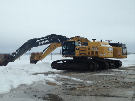 The job site at Site Development, Inc.'s project for Taxiway G