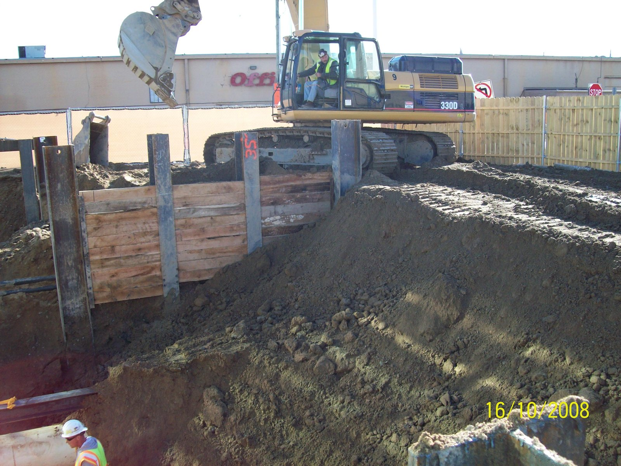 Site Development, Inc. employees work at the Beaumont Health System job site.